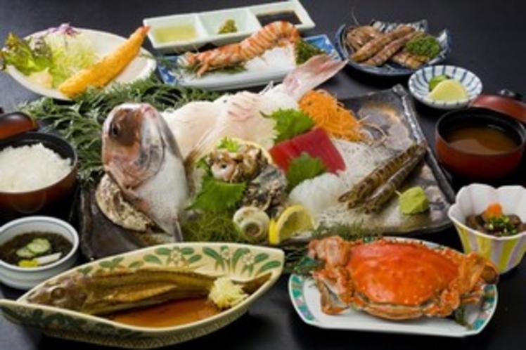 日帰りでも活魚料理が楽しめる ‐ 例『特別磯料理(5,400円)』