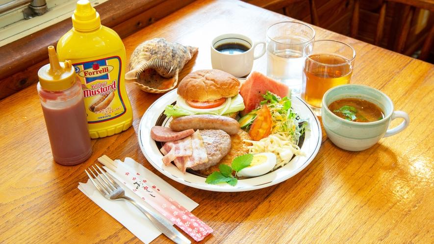 *【朝食一例】ボリュームたっぷり!アメリカンな朝食♪