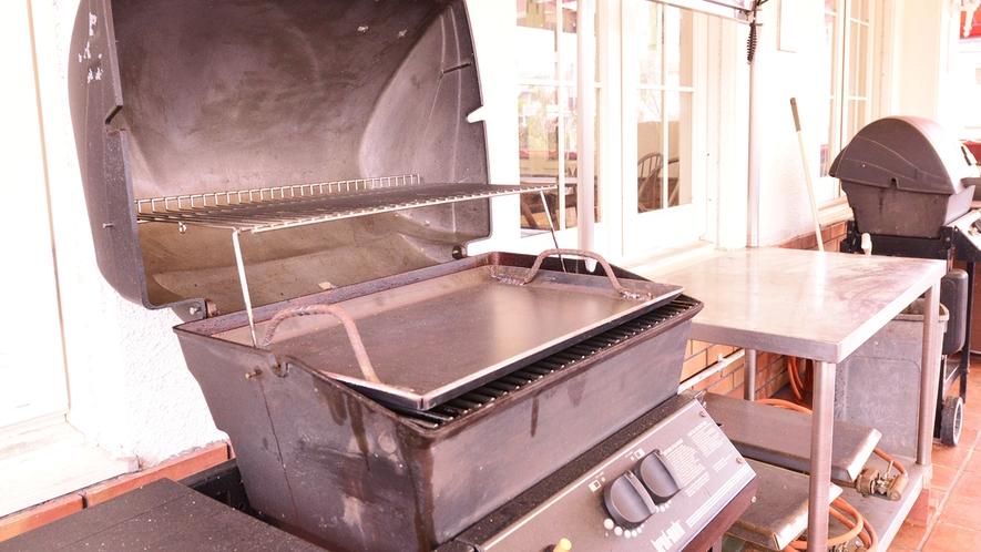*バーベキューガーデン/各種調理器具がそろっております。