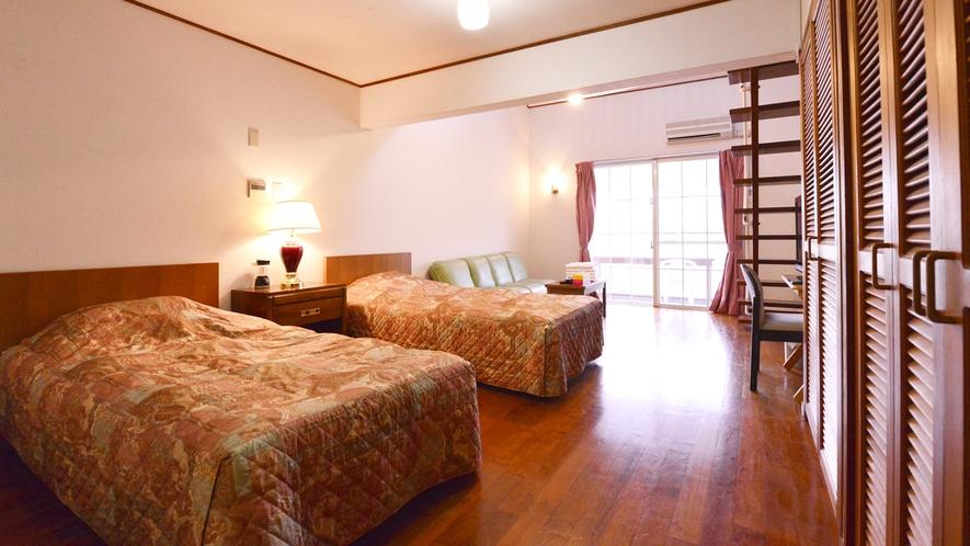 *メゾネットA(客室一例)/ご家族で宿泊される場合に最適なメゾネットタイプ!別荘気分を味わえます。