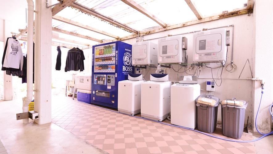*コインランドリー/洗濯機と乾燥機は、3台ずつ設置しております。