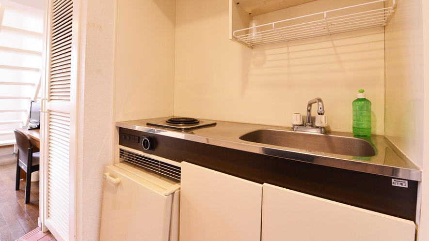 *メゾネットB(客室一例)/便利なミニキッチンも完備いたしております。