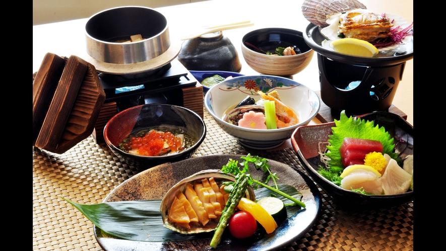 【アワビステーキ&帆立浜焼きプラン】三陸の名産品を贅沢にお愉しみください