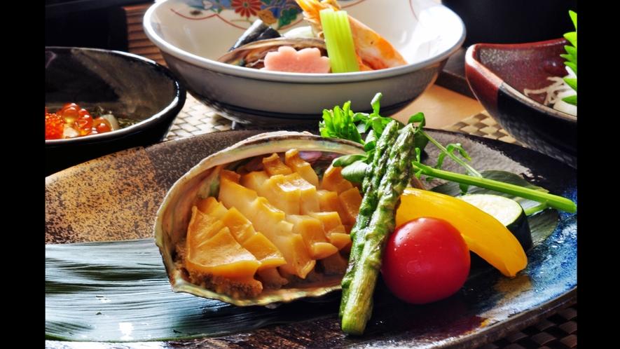 【アワビステーキ】アワビステーキ&帆立浜焼きプラン