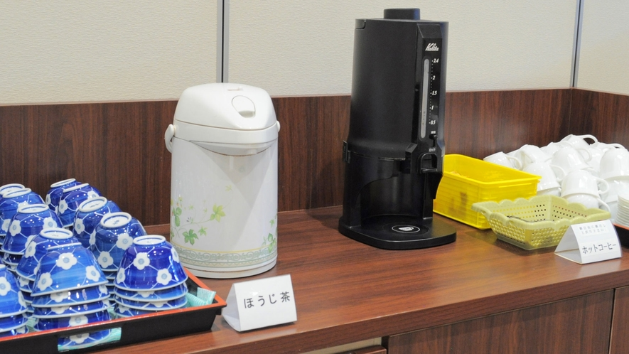 【朝食のドリンクコーナー】