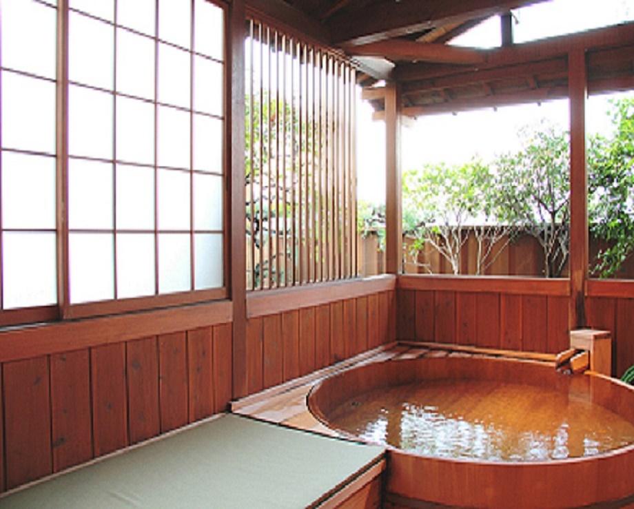 貸切露天風呂です。