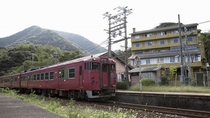 JR柴山駅と甲羅戯