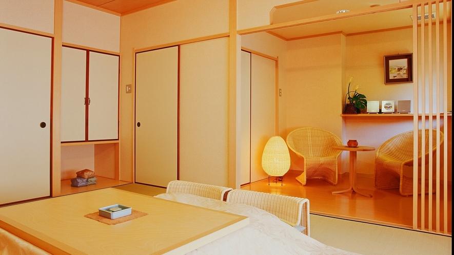 「特別室 かにえびたい」 隣りの洋室(ツイン)とコネクティングルームとしてご利用頂くことも可能です