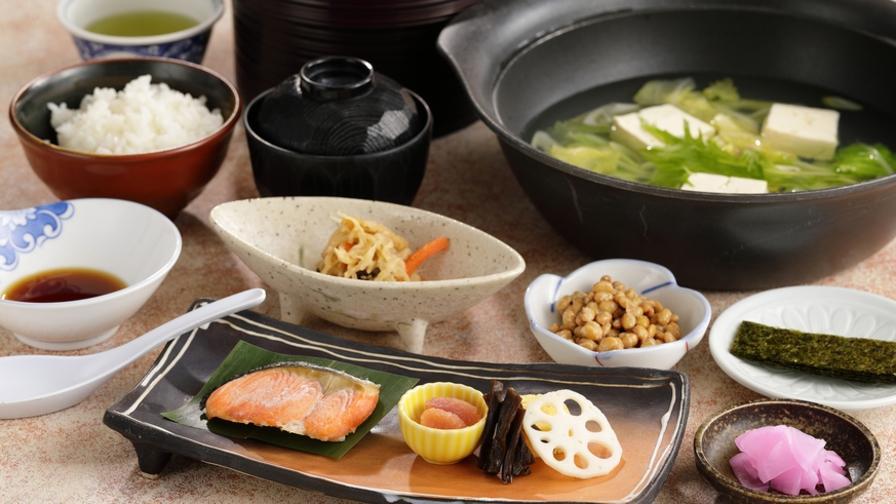 【朝食付き】湯豆腐と和定食の朝食でほっと一息♪源泉「山中湖旭日丘温泉」美肌の湯を満喫!