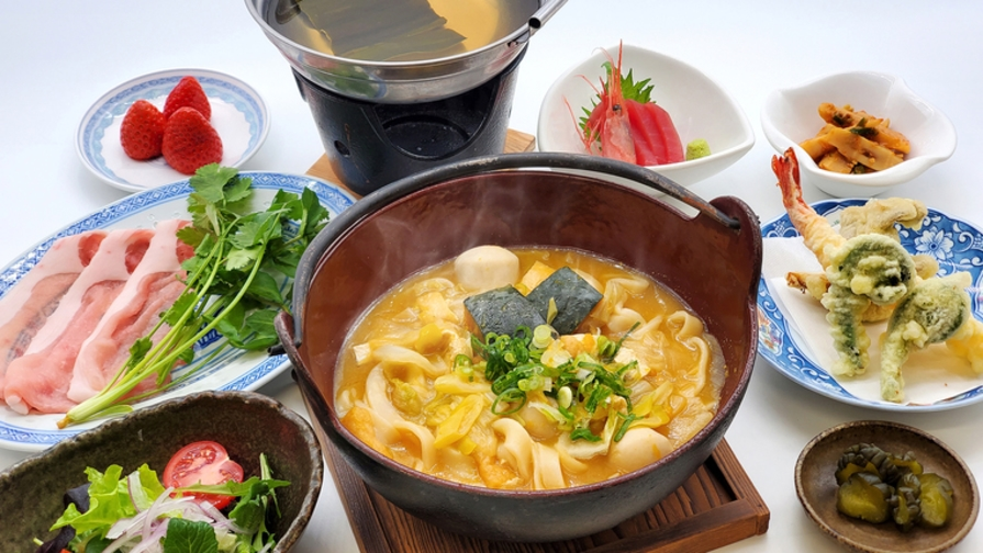 【2食付き】美肌の湯を満喫♪ほうとう&山梨県の郷土料理を楽しむプラン