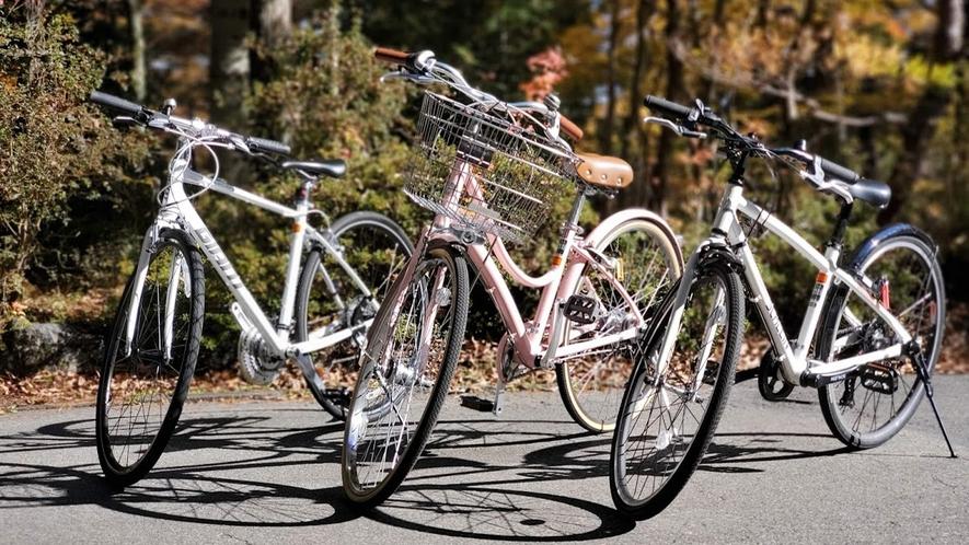 自転車を貸出しております(1時間無料)詳しくはフロントまでお問い合わせください。