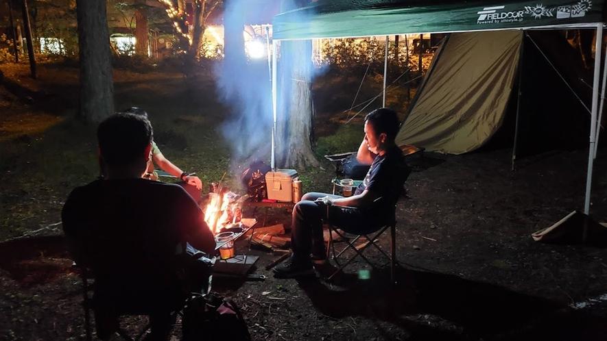 【キャンプ体験プラン】焚火も楽しめます