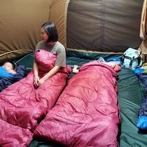 【キャンプ体験プラン】テントの内部
