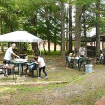 キャンプ体験プラン バーベキュー