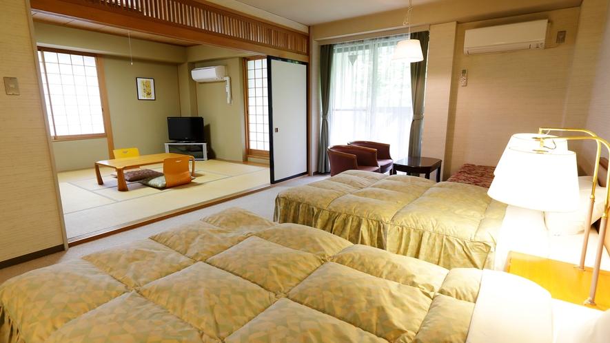 別館和洋室(独立したバス・トイレ付)畳のお部屋があり、ご年配の方やお子様連れに人気です。