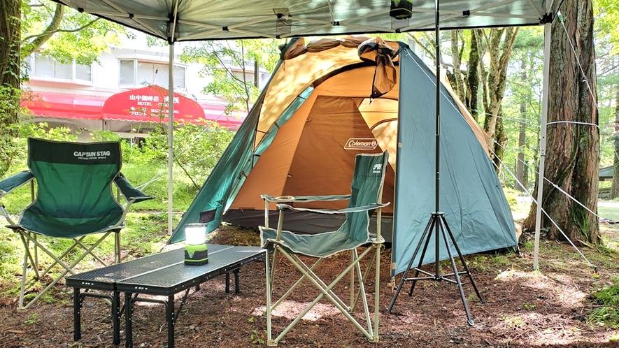【キャンプ体験プラン】テントや道具を持ってなくても、安心してキャンプ&BBQが楽しめます!