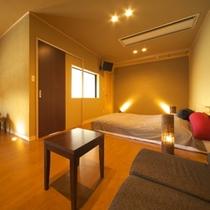 2012年11月7日オープン 半露天風呂付客室「風林」