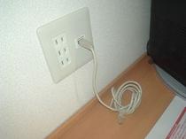 LANケーブルを全室に設置