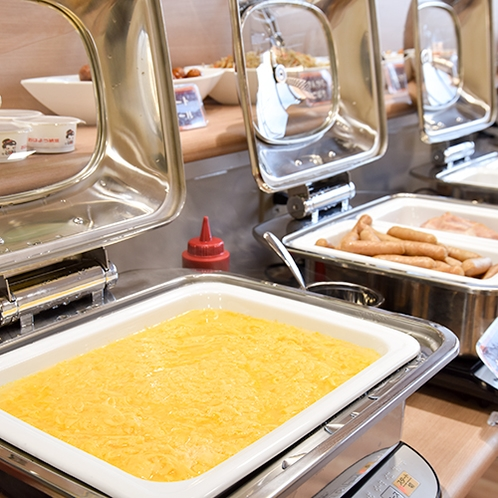 朝食バイキング/卵やウインナーなど洋食派にも嬉しいメニューの数々