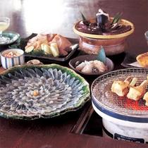 ふぐ魚醤焼+【焼き白子&てっちり】味わいコース
