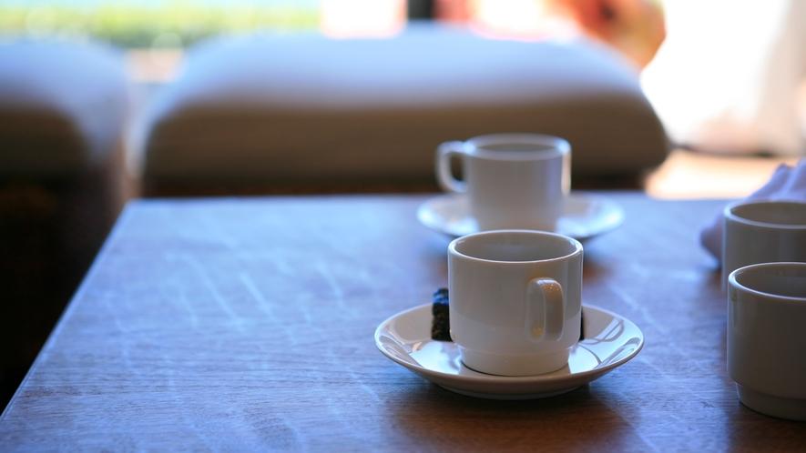 *コーヒーでほっと一息
