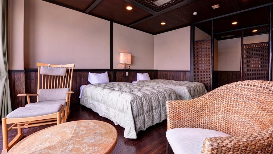 *Bタイプ(洋室12.5畳+テラス)/訪れるすべてのお客様を特別感に満ち溢れた空間へ誘います。