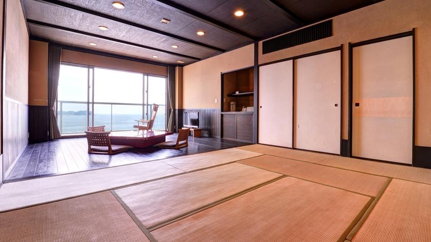 *Eタイプ(和室10畳+板の間10畳+テラス)/ゆったり寛げる最高のプライベート空間。