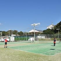【テニスコート】学生さんや社会人サークルに人気!合宿もできます。