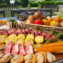 【ベーべキュー】食材も火も当館でご用意!準備は全てまかせて手軽にBBQを満喫