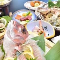 【豪華会席(一例)】淡路島の高級食材をふんだんにしようした自慢の会席料理です♪