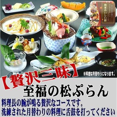 【部屋食】至福の松ぷらん 料理を堪能♪16畳広い和室で朝夕お部屋食♪【贅沢三昧】