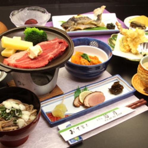 2012年冬のグレードアッププランのお料理イメージです