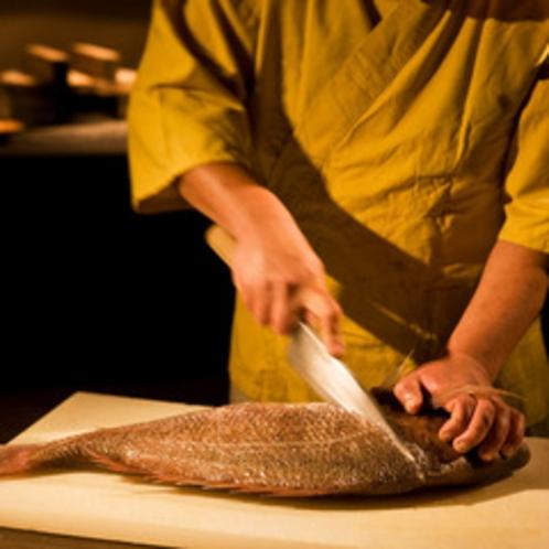 旬な魚料理を