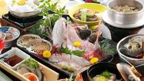 地魚いっぱい会席(一例)