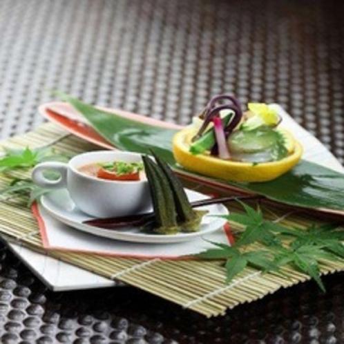 季節野菜を使用したデザート