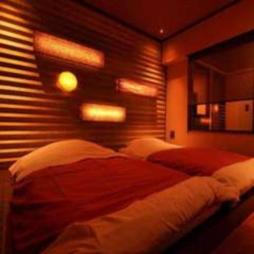 夜はゆっくりと寛げる様に!新客室「早雲」の寝室