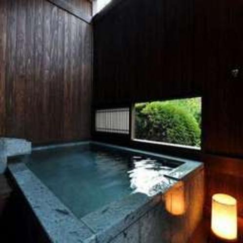 新しく新設された「くつろぎの間」北条の客室専用露天風呂