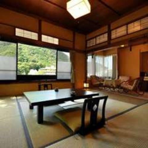 箱根連山が見渡せる客室(懐かしの間)梢