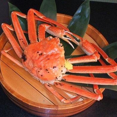 ☆活蟹☆越前蟹フルコースあつあつのゆで蟹大満足プラン(ゆで・焼き・刺し・鍋)