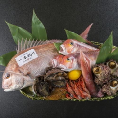 地元で獲れる新鮮な魚介類