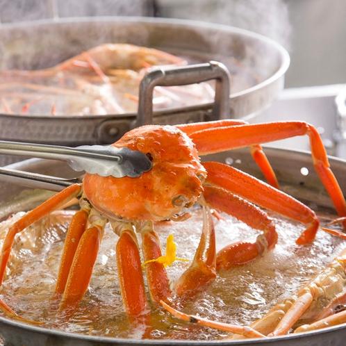 熱々の越前蟹
