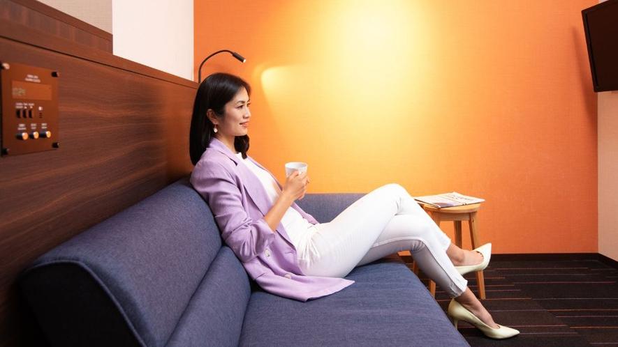 ベッドなしのお部屋にはデイベッドまたはソファベッドをご用意。ちょっとした休憩に!