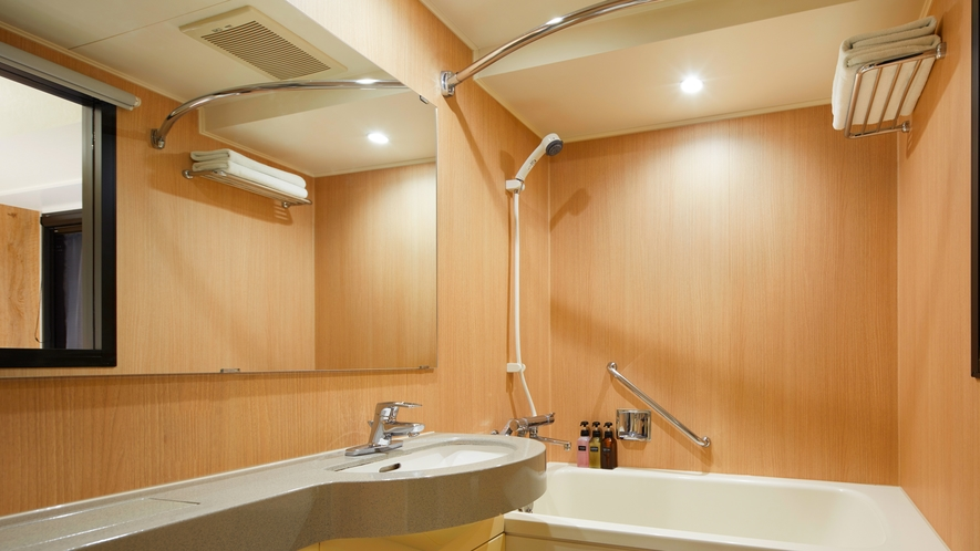 <バスルーム>毎日湯船に浸かりたい方にうれしい、全室バスタブ付き