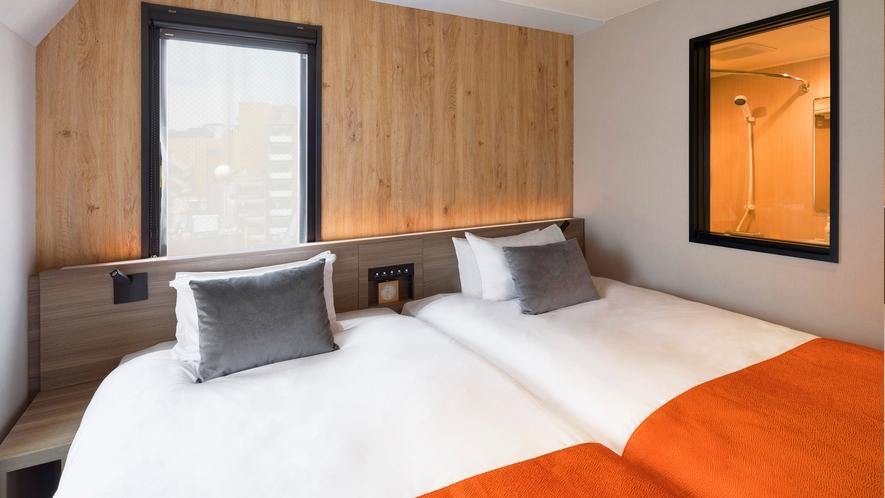 <客室>◆ツイン◆ 20平米【ベッド 幅110cm】