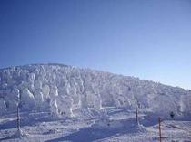 [アイスモンスター]と呼ばれる、蔵王の樹氷