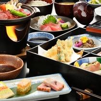 ■牛&豚陶板ステーキ膳■