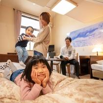 ロフト付きのお部屋は親しいご家族とのグループ旅行にオススメ!