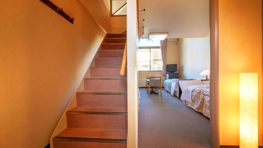 ■本館洋室 ロフト付■小さいお子様連れファミリーに人気!ロフトへの階段にはスロープ付きで安心