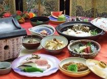 【お得秋味】「三元豚蒸しゃぶ・秋茸鍋」いちょう会席