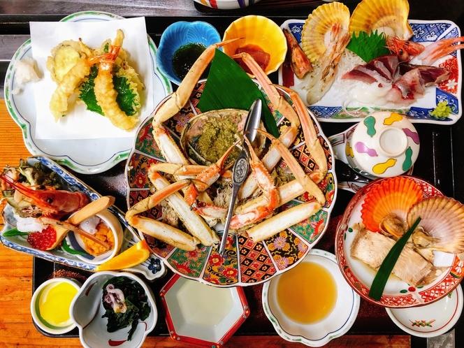 松葉ガニ定食